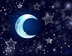 Месяц и звезды